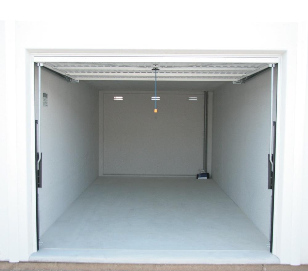 Garage geöffnet